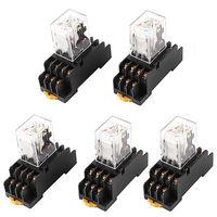 Hh54pl AC 36 V Coil 4PDT 14Pin 35 mm Rail DIN relais de puissance électromagnétique 5 Pcs livraison gratuite