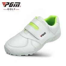 PGM детская Туфли для гольфа Обувь для мальчиков девочек высокое качество мягкой микрофибры водонепроницаемый дышащий малыш Гольф Спортивная обувь Спорт на открытом воздухе Обувь