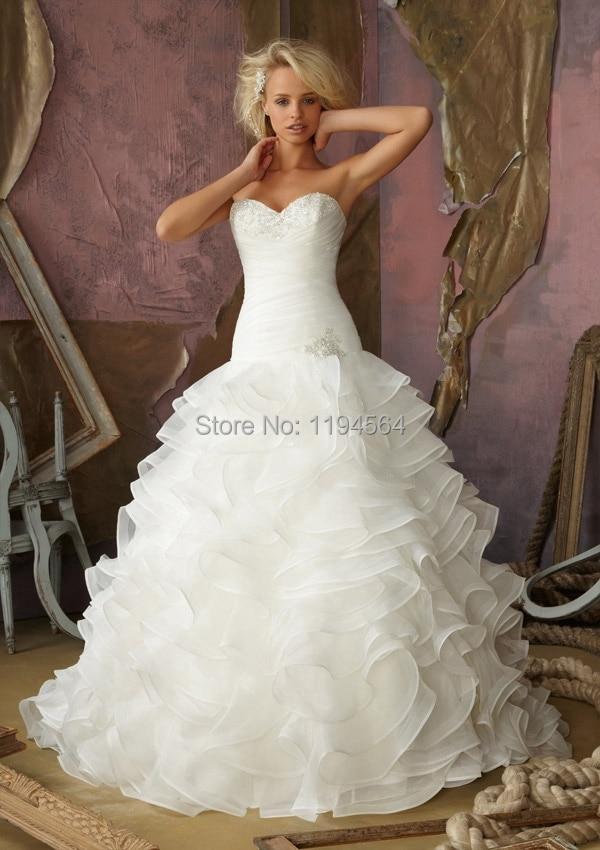 Бальное платье свадебные платья слой из органзы свадебные платья аппликации милая Vestido Noiva 2015 шнуровка-до WH738