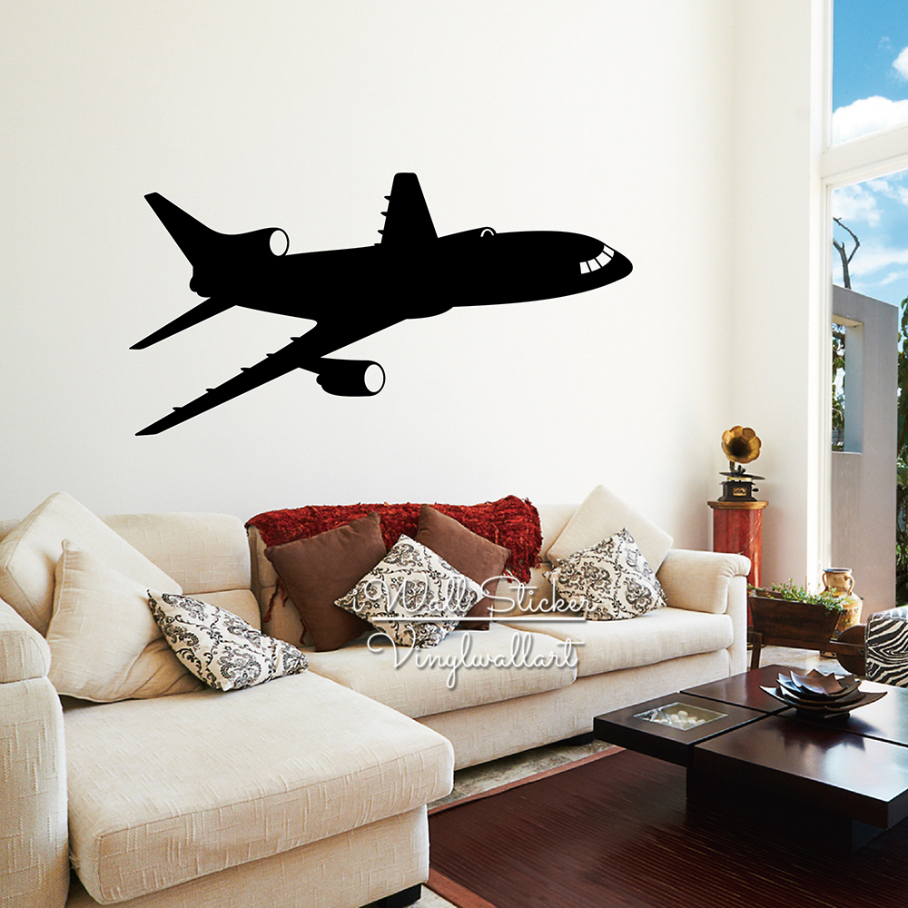 Airplane Wall Sticker Modern Airplane Wall Decal DIY Modern Wall Art ...