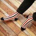 2016 Promotion Socks Harajuku Lover Retro Color Vertical Stripes Socks Cotton College Style Tube For Men And Women