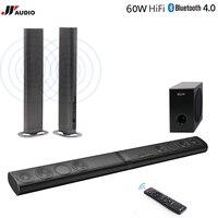 JYAudio 80W 3D Home Theater TV Soundbar Bluetooth Speaker Wireless Sound Bar Stereo Optical HDMI AUX