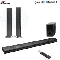 60 W 3D Home Theater TV Soundbar Bluetooth Speakers Draadloze Geluid Bar Stereo LED TF Optische HDMI AUX Subwoofer Computer PC telefoon