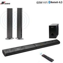 60 W Głośniki Kina domowego 3D TV Soundbar Bluetooth Bezprzewodowy Dźwięk Bar LED Optycznego HDMI TF AUX Stereo Subwoofer Komputer PC telefon