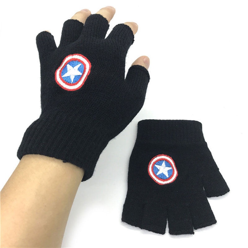 Fashion Anime Naruto Logo Fingerless Gloves Mitten Cosplay Gifts Adult Glove New