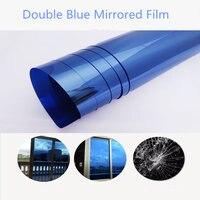 1.52m x 10m Solar Window Film One Way Vision Anti UV Glass Window film Blue Blue reflective Mirrored for architecture film