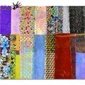 50 pçs/sets Transferência Nail Art Autocolante Prego Foils 20x4 cm Mix Flor colorida para Decorações Da Arte Do Prego DIY Beauty Care Dicas NJ207