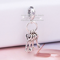 2018 Autumn Fashion Jewelry S925 Silver Love Lock Color CZ Pendant Charm Beads Fits European DIY Bracelets Necklaces Jewelry