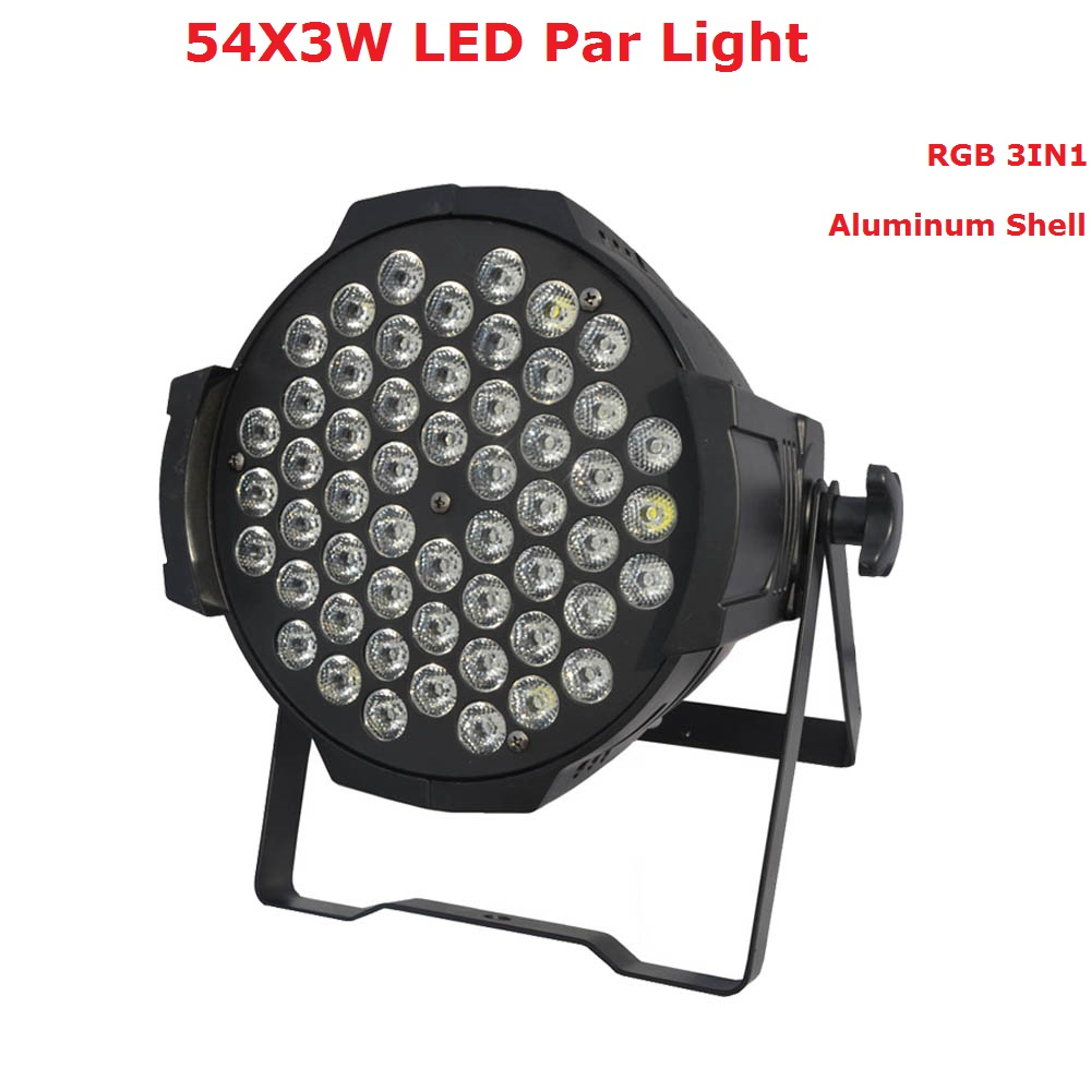 New Professional LED Stage Lights 54X3W RGB 3IN1 LED Par Light With 7 DMX Channels For DJ Disco Party Wedding Nightclubs