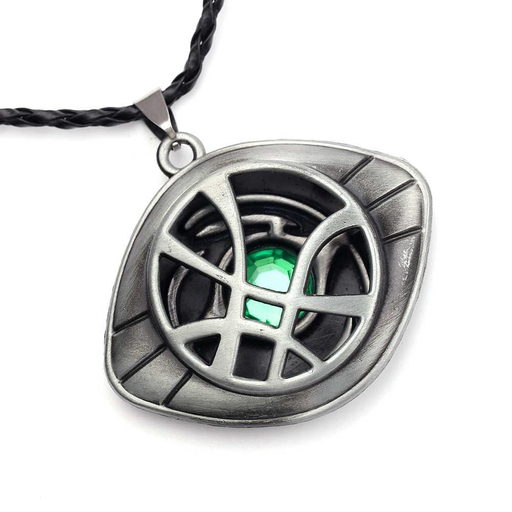 Docteur collier étrange cristal oeil d'agamotto pendentif collier les Avengers infini temps pierre mode bijoux pour homme femmes