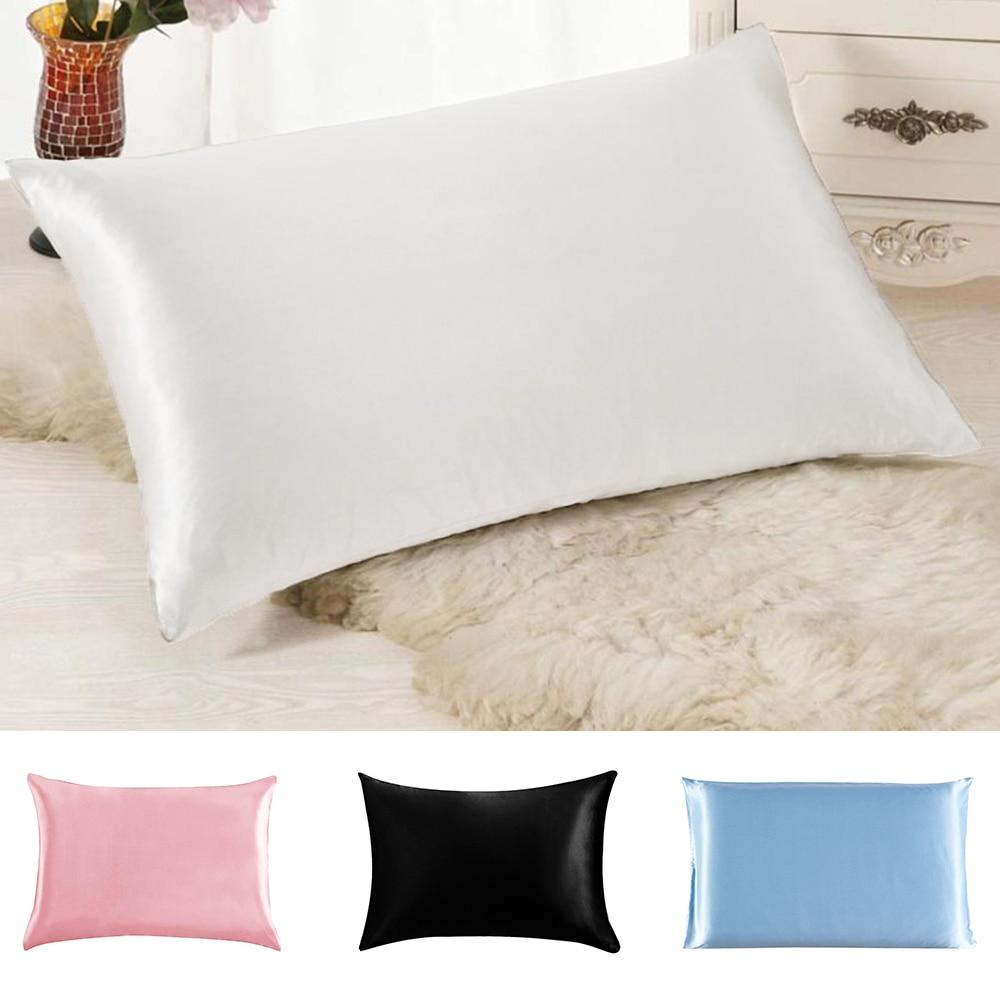 Two Sides Silk Imitation Christmas Pillowcase Satin Pillow