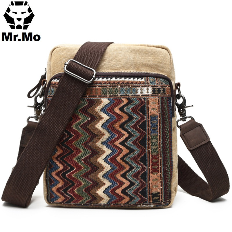 Trendy Vintage Men's Shoulder Side Bags Ethnic