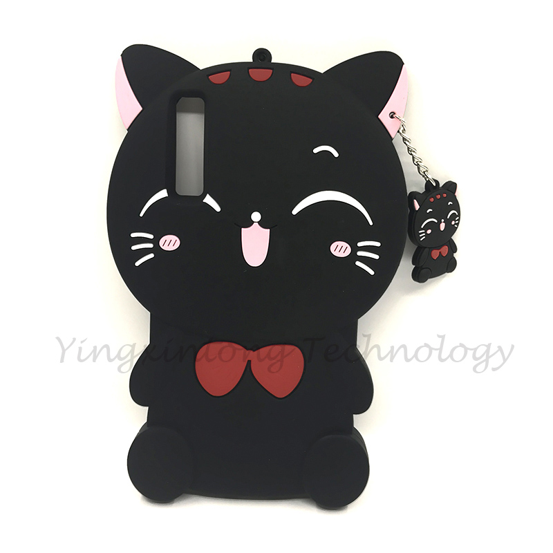 Phone Case For Samsung Galaxy A7 2018 Case Cover Silicon Cute 3D Unicorn Cat Back Coque For Samsung A7 2018 A750 A750F 6 0 quot Case in Fitted Cases from Cellphones amp Telecommunications