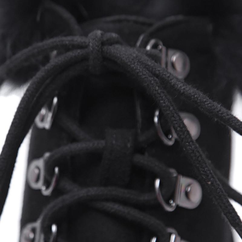 Plataforma Cruzadas Cm 40 Negro Botas Tacones 34 Señoras Botines Super Tamaño Mujer Delgadas Feminina Bota Encaje 14 x1Hn0qTRT