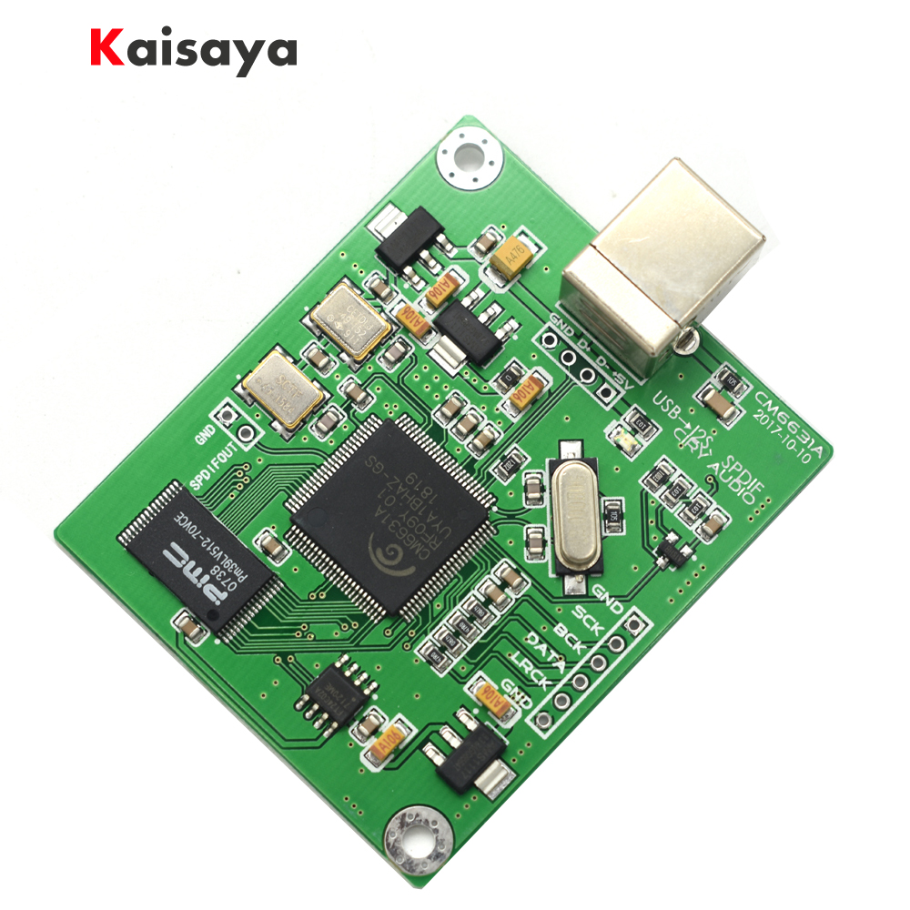 new CM6631A DAC Board Digital interface card USB To IIS SPDIF Output 24Bit 192K F3 011