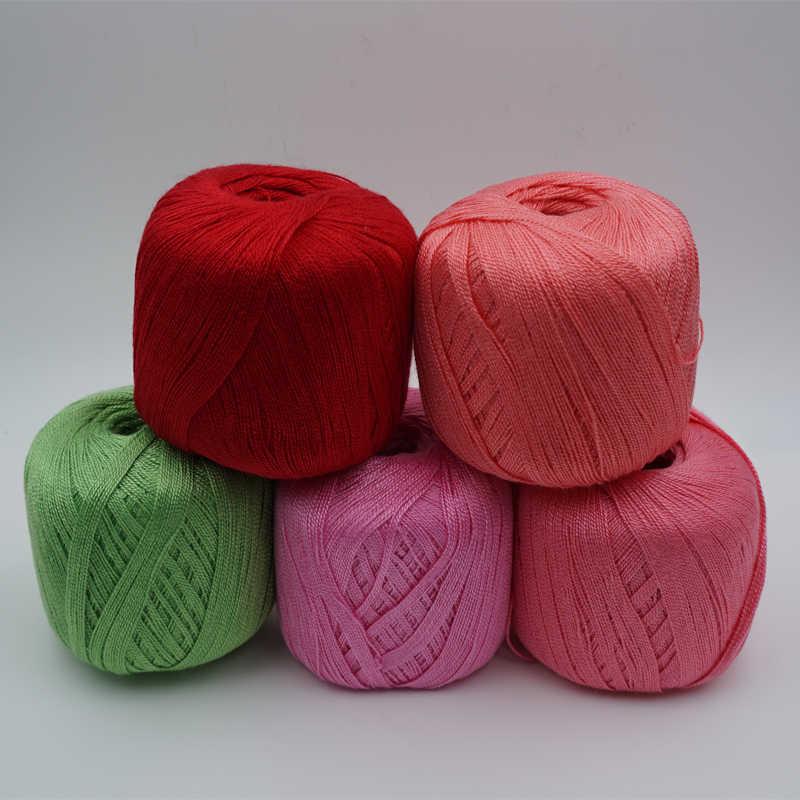 5 piezas * 50g hilo para tejer a mano hilo para croché mantel hilo de lino Crochet encaje filamento tejido a mano hilo t50