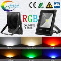 20 штук Красочные RGBLed прожектор 10 Вт 20 Вт 30 Вт 50 Вт 100 Вт 150 Вт 200 Вт Led наружного освещения, светодиодный прожектор 110 В 220 В AC12v24v