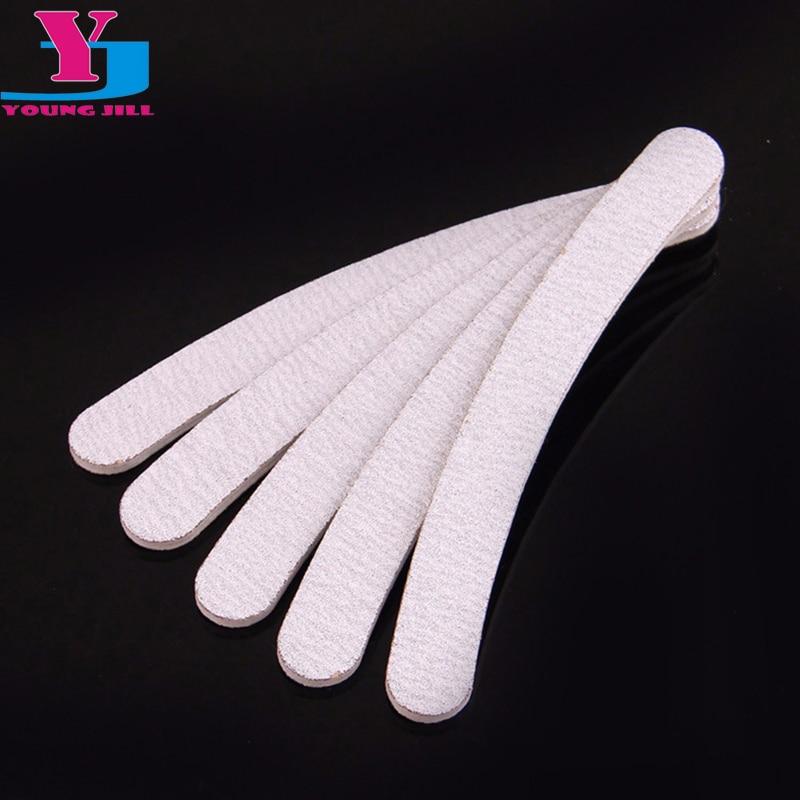 5pcs Grey Acrylic Nail File Buffer 100 180 Manicure Tools Sanding Nail Files Professional Salon