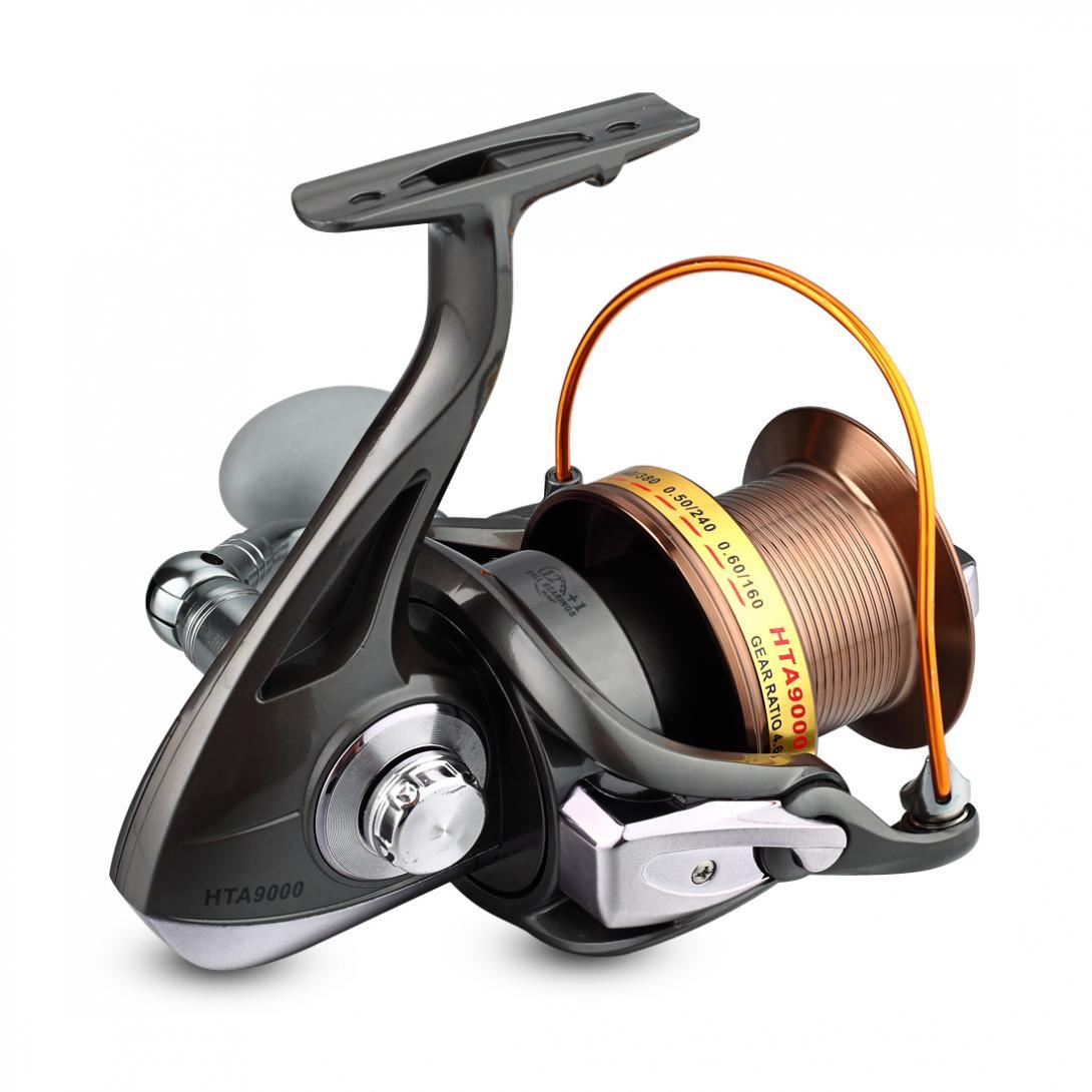 Image 5 - 9000 серия 12 + 1BB 4,6: 1 полностью металлическая Рыболовная катушка с ЧПУ рокер, Рыболовная катушка, морская рыболовная длинная стрела, тип линейного колеса-in Катушки спиннинга from Спорт и развлечения