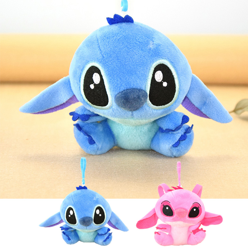 WVW Cartoon Stitch Soft Stuffed Animals Toy Baby Doll Toys For Girls Children Birthday Gift Mini Stuffed Animals Cute Plush Toy cute mouse hamster bag plush toy plush backpack stuffed animals plush doll japanese gift for kids girls kawaii toys for children