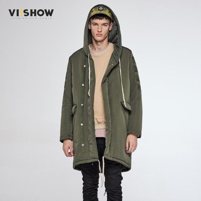 VIISHOW New Winter Jacket Men Casual Warm Long Armygreen Coat Men's Brand  Outwear Parka Coats Windbreak