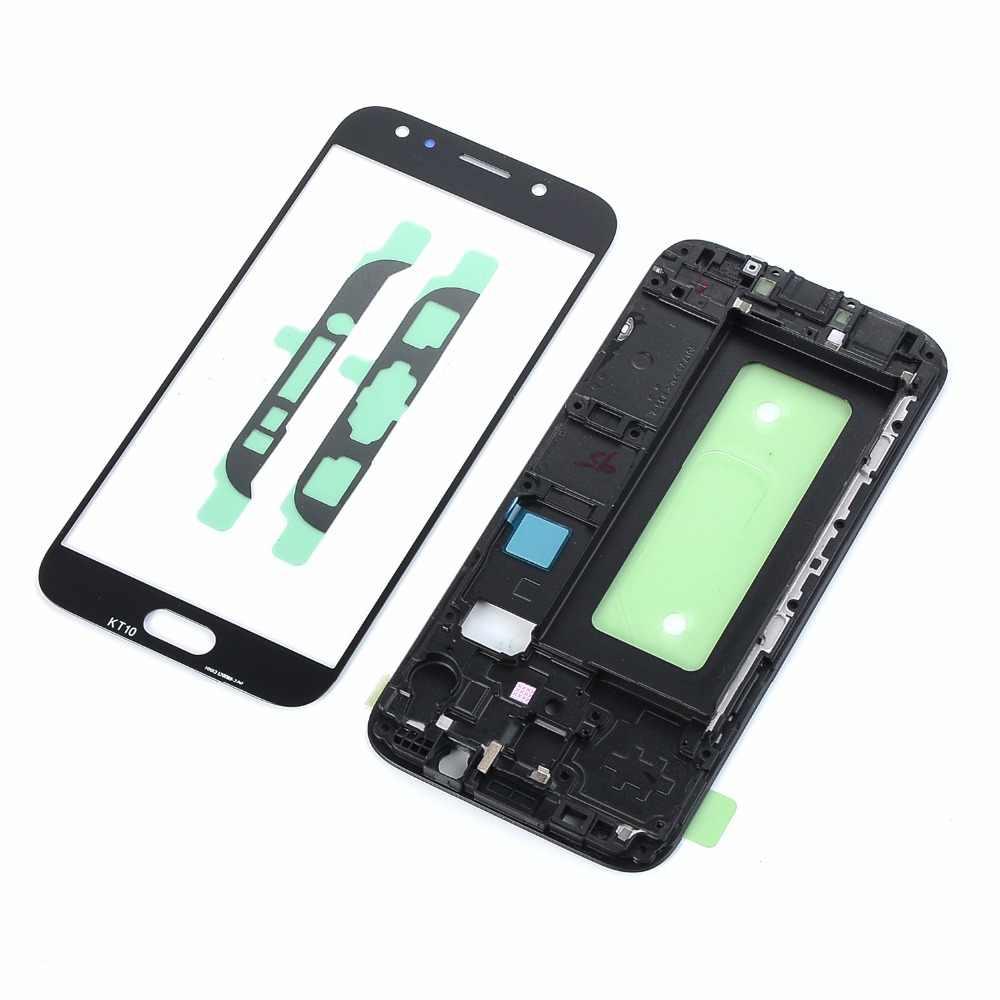 لسامسونج غالاكسي J5 2017 J530 J530F J5 برو لوحة شاشة لمس الاستشعار محول الأرقام زجاج LCD الإسكان الإطار لاصق أدوات