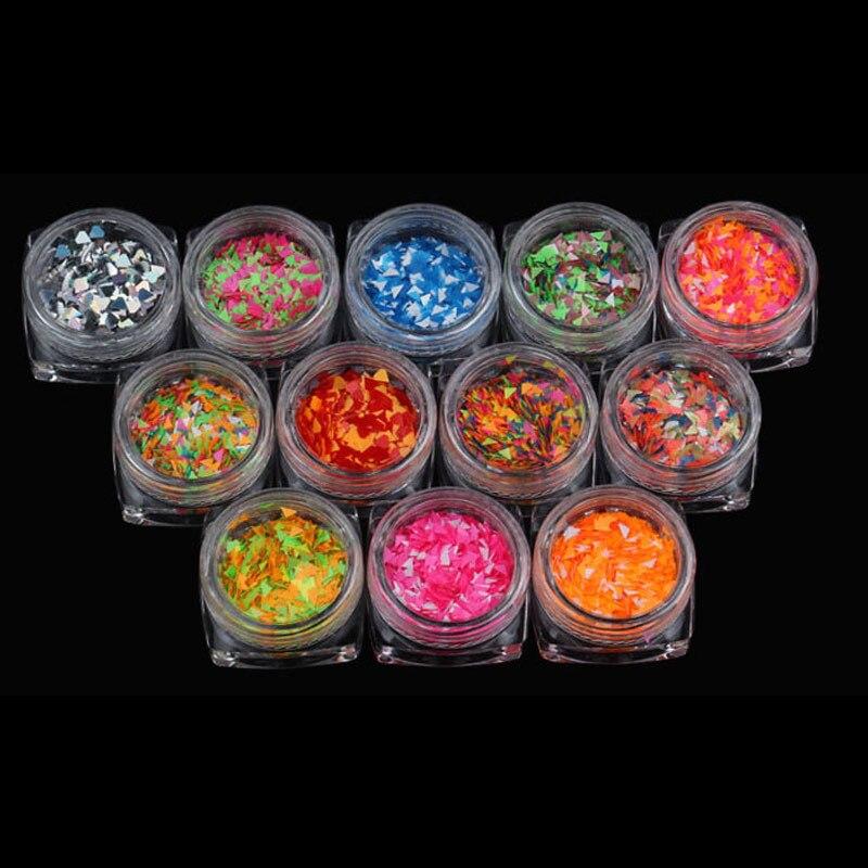 12 Цветов DIY Nail Книги по искусству пайетки с бутылкой Алмазный украшения ногтей Наклейки Маникюр Советы для Для женщин леди подарок 88 WH99