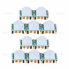 Wholesale 10Pcs/Lot Pyroelectric Infrared sensor SR501 Human Body Detecting HC SR501 PIR Motion Sensor Module for Arduino MCU