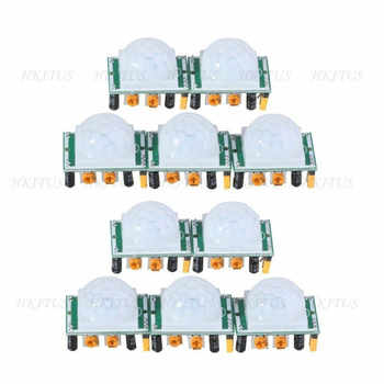 Wholesale 10Pcs/Lot Pyroelectric Infrared sensor SR501 Human Body Detecting HC-SR501 PIR Motion Sensor Module for Arduino MCU - DISCOUNT ITEM  5% OFF All Category