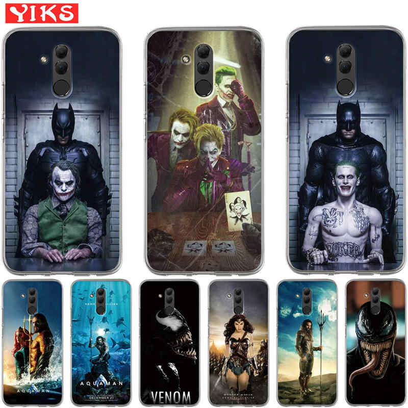 Luxury Aquaman Joker venom Case For Huawei Mate 9 10 20 P8 P9 P10 P20 Lite Plus Pro 2017 Cover Case TPU Coque The Avengers Etui