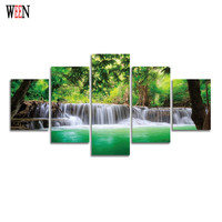 WEEN Framed HD Print Large Landscape Wall Pictures Art Directly Handed 5 Piece Poster For Living Room Cuadros Decoracion Gift