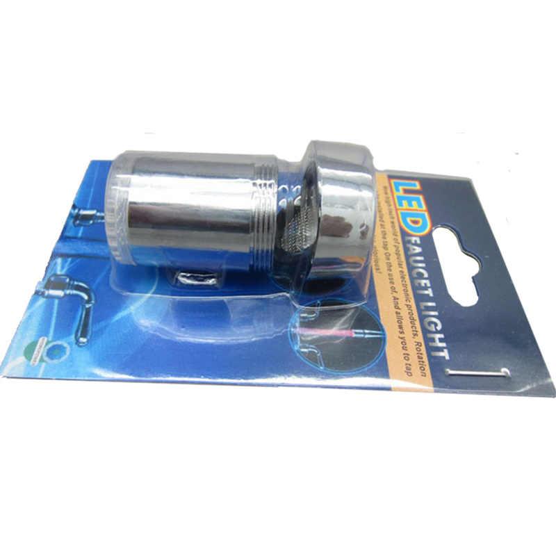 キッチンの蛇口の噴出温度センサー Led 蛇口インテリジェント水蛇口ノズルレッドグリーンブルーライト Led 水タップ