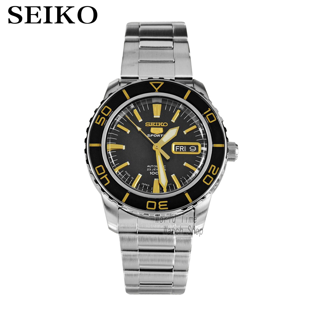 лучшая цена SEIKO Watch Seiko 5 automatic mechanical movement diving male watch casual fashion strip watch SNZH57K1 SNZH55J1