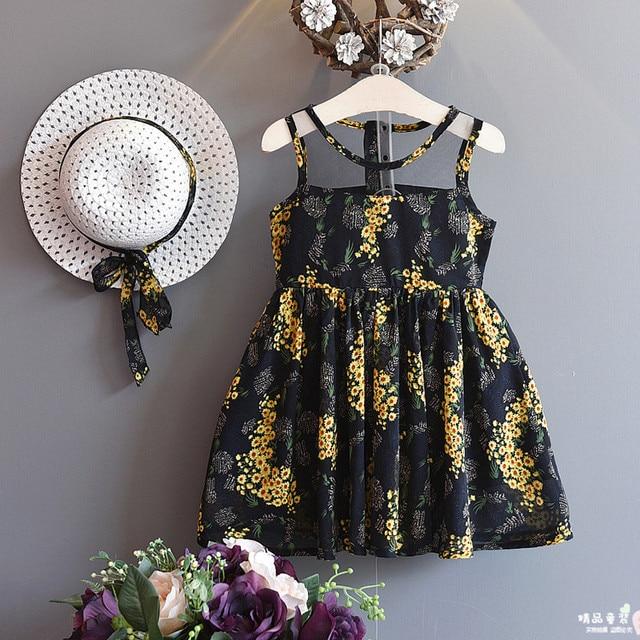 36d4a26c4 2018 Summer New Korean Girl Lace Flower Embroidery Dress+sun Hat ...