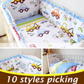5PCS 100X60 Cotton Baby Crib Bedding Set  With Bumper Baby Bed Sets Baby Cot Bumper Baby Crib Bumper With Filler CP01