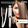 Professional Steam Hair Brush Steampod Fast Hair Straightener Electric Ionic Comb Spray Vapor Infrared Flat Iron