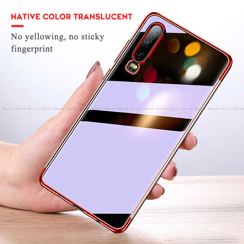 Plating TPU Case For Huawei P30 P10 P20 Lite Mate 20X 10 Pro For Honor 8X 8C 7A 5.45inch 7C 5.7inch P Smart 2019 Plus Soft Cover