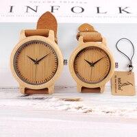 BOBO BIRD A10 Brand Design Women Wooden Bamboo Watch Real Leather Strap Quartz Watches For Women