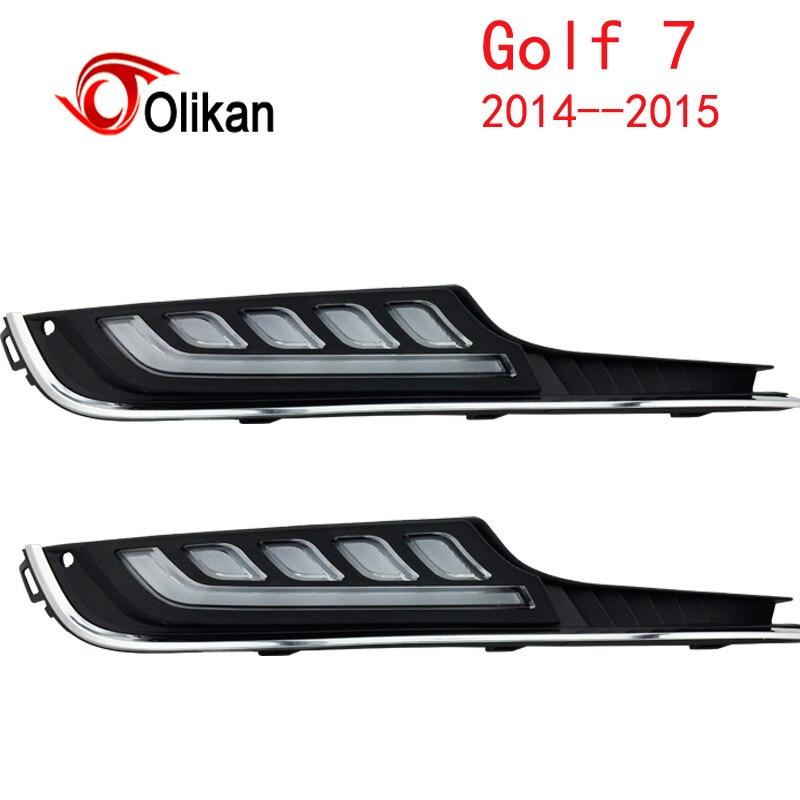 Éteindre et gradation style relais LED Voiture DRL Feux de jour pour Volkswagen (Vw) Golf 7 2014-16 avec feu de brouillard