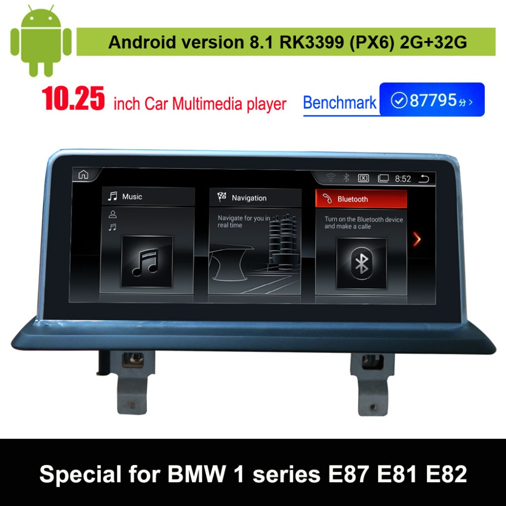 Android 8.1 Voiture Lecteur Multimédia pour BMW 1 série E87 E88 E81 E82 Auto GPS Navigation