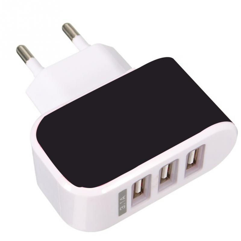 3.1A Triple USB Port Wall Home Travel  Charger Adapter For Samsung S6 For Iphone 5s 6s Cell Phones EU / USPlug