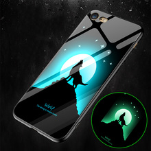 LUCKBUY Luminous Animal Soft Case For iPhone X XS MAX Luxury Silicone Phone 7 8 Plus Cases 6 S 6S