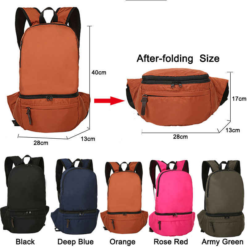 d9590e795e ... Foldable Backpack Waist Bags Portable Camping Backpacks Lightweight  Outdoor Sports Hiking Travel Rucksack Sac De Sport ...