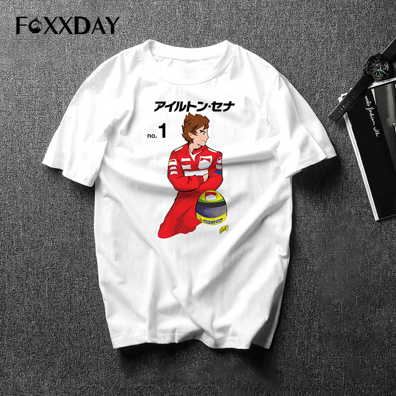 2018 New Retro unique design Men's T Shirt Car fans Tops cool My favorite driver ayrton senna T-shirt Men Tee shirt short sleeve