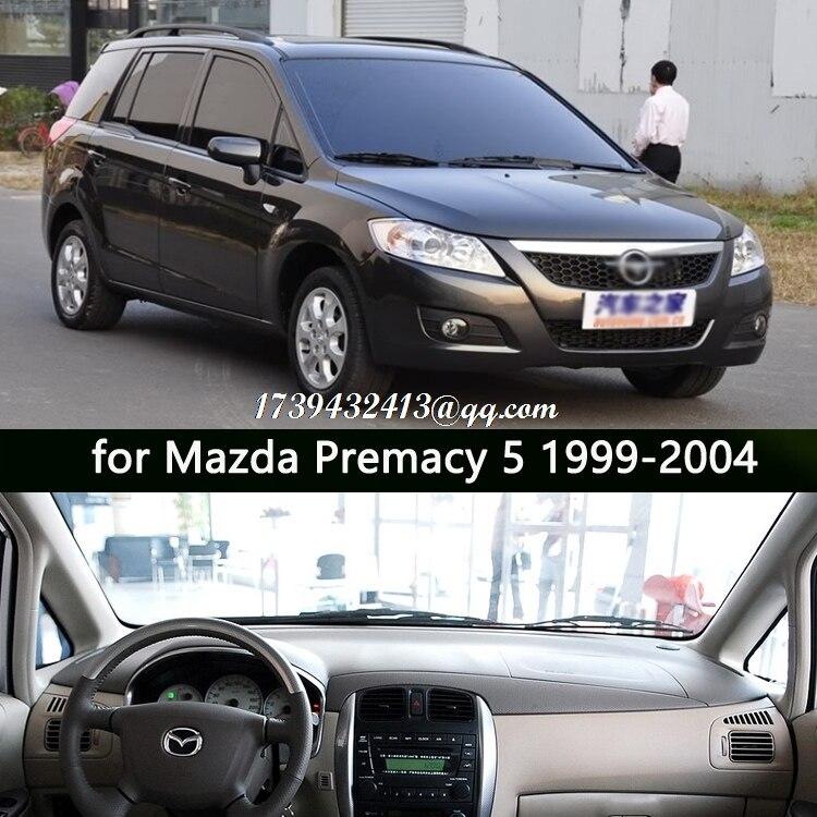 Accessoires de voiture dashmats de voiture couverture de tableau de bord pour Mazda 5 Premacy Ford Ixion 1999 2000 2001 2002 2003 2004