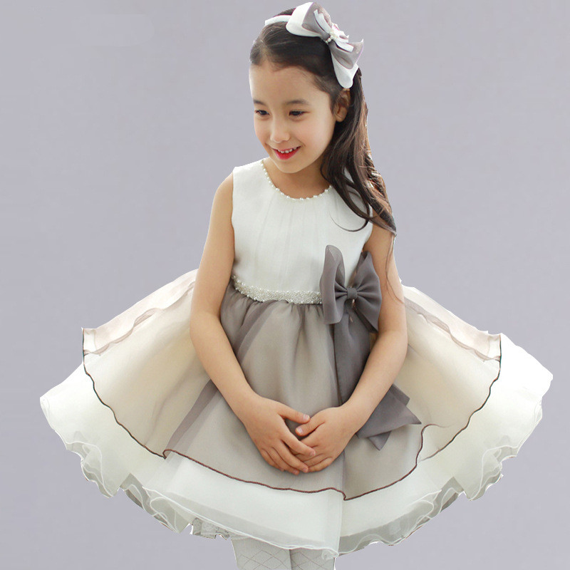 New Fashion Flower Girl Dress Party Birthday wedding princess Toddler baby Girls Clothes Children Kids Girl bow Dresses fashion flower girl dress party birthday wedding princess dress toddler baby girls clothes v neck children kids girl dresses p34
