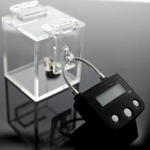 O dispositivo de castidade caixa de chave seguro castidade chave titular do keyholder safechastity jogo com acrílico caixa sexy brinquedos