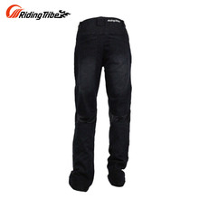 Riding Tribe Breathable Motorcycle Riding Pants Slim Denim Jeans Motorbike Motocross Off-Road Knee Protective Motor Jeans