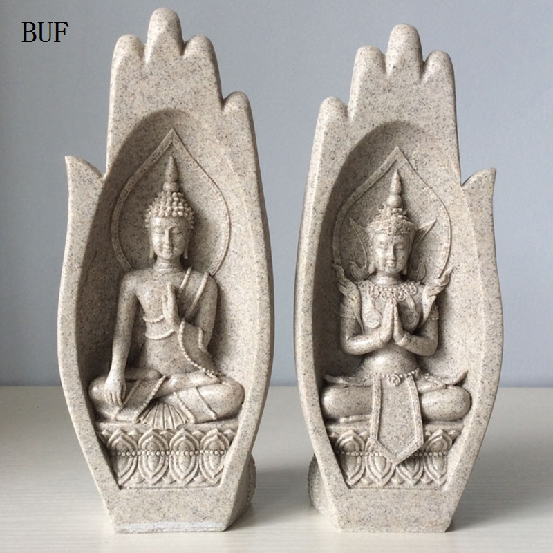 2Pcs Small Buddha Statue Monk Figurine Tathagata India Yoga Mandala Hands Sculptures Home Decoration Accessories Ornaments2Pcs Small Buddha Statue Monk Figurine Tathagata India Yoga Mandala Hands Sculptures Home Decoration Accessories Ornaments