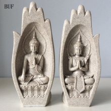 2Pcs Small Buddha Statue Monk Figurine Tathagata India Yoga Mandala Hands Sculptures Home Decoration Accessories Ornaments such small hands
